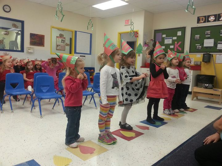 Preschool chidlren singing at our concert