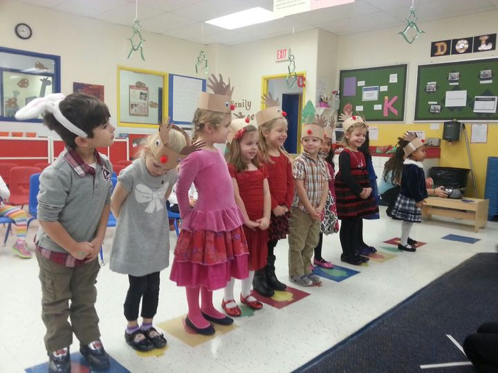 Pre-K children singing at our concert